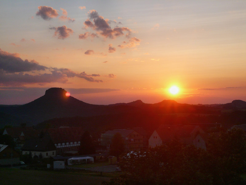 Foto: Tino Büttner - Lilienstein in der Abendsonne