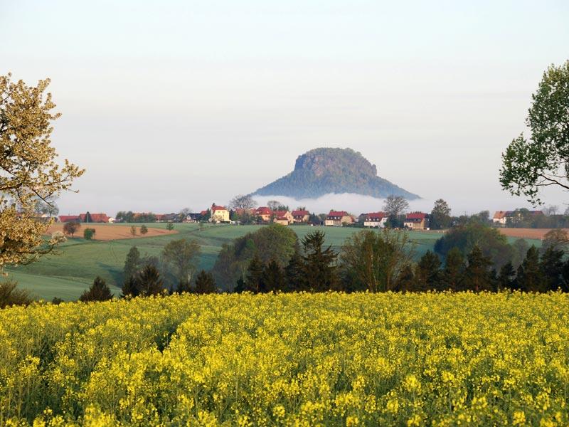 Foto: Harald Thiele - Rathmannsdorf im Hintergrund der Lilienstein